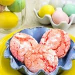 Strawberry Crinkle Cake Mix Cookies Recipe