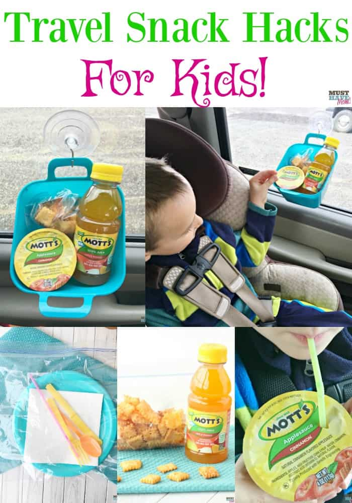 Grab these snack hacks for kids! On the go snack ideas and car hacks for eating in the car mess free.