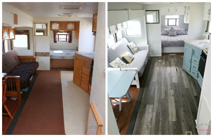 Wonderful Easy RV Makeover With Instructions To Remodel RV Interior, Paint RV Walls,  Paint 2 Pictures
