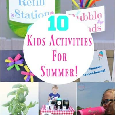 10 FUN Summer Activity For Kids Ideas That Will Beat Boredom!