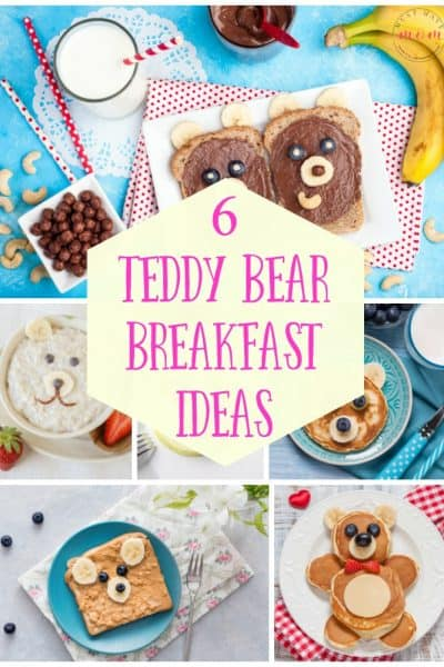 6 teddy bear breakfast ideas! Fun breakfast ideas for kids or fun snack ideas.