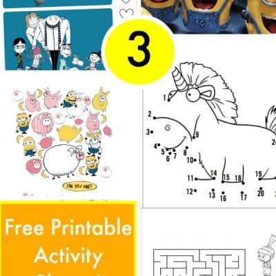 Free Despicable Me 3 Printables