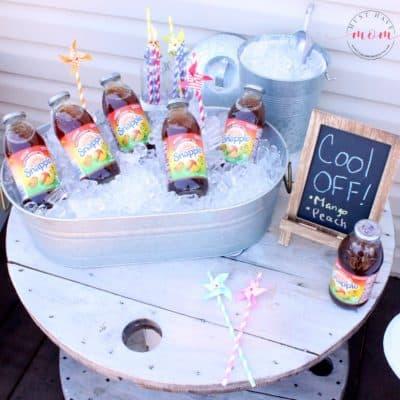 DIY Outdoor Beverage Station