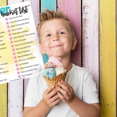 Summer Bucket List For Kids! Free Printable!