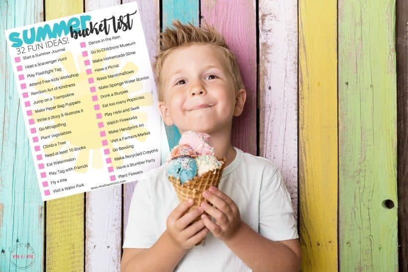 Summer Bucket List for Kids! Do these 32 fun ideas this summer to keep the kids entertained with fun kids activities!