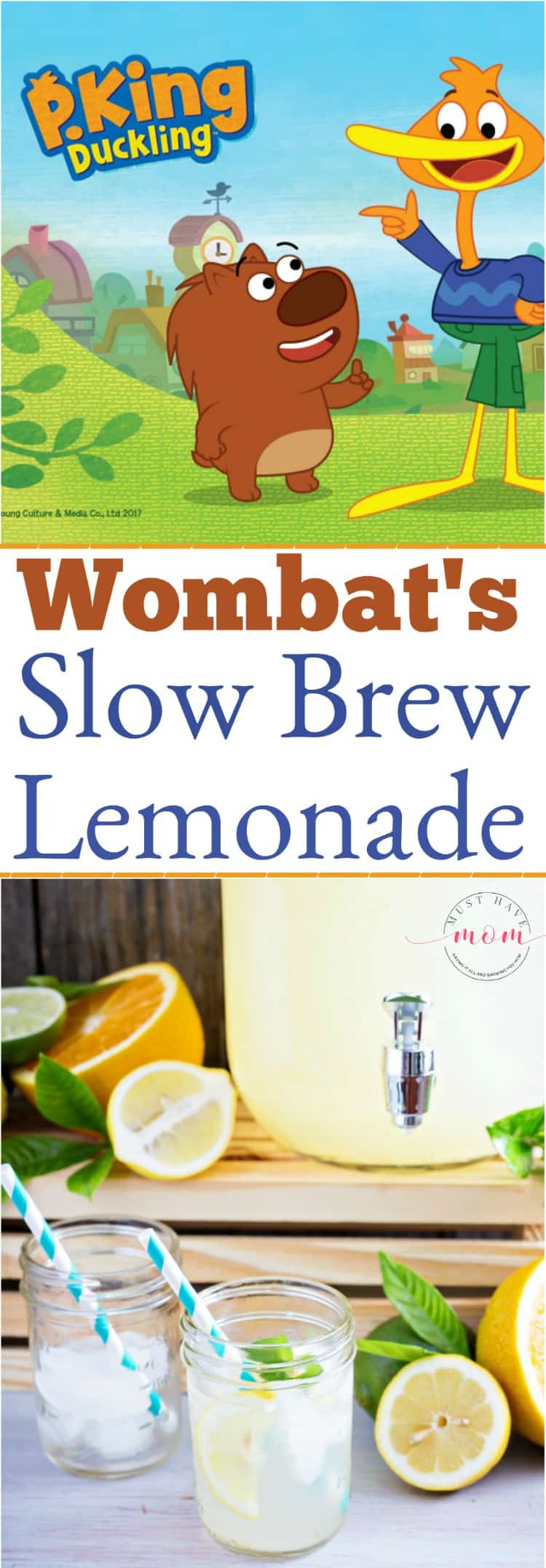 P. King Duckling ideas! Wombat's slow brew lemonade recipe. Great for P. King Duckling birthday party theme!