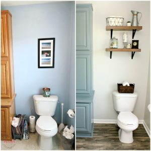 farmhouse style fixer upper bathroom on a budget - must