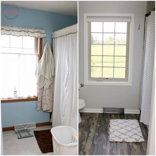 Fixer upper style bathroom before and after must have mom for Bathroom decor fixer upper