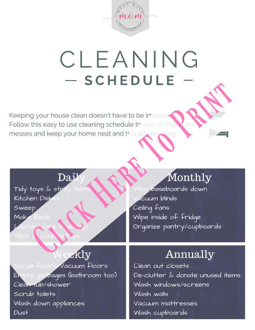15 Cleaning Tips for Busy Moms! Get your cleaning done faster and keep your house tidy with less effort. Plus free printable cleaning schedule!