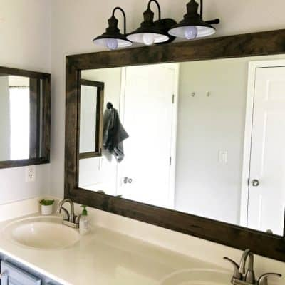 Farmhouse Style DIY Vanity Mirrors Tutorial