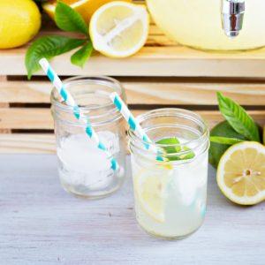 Homemade lemonade recipe with lemon juice!
