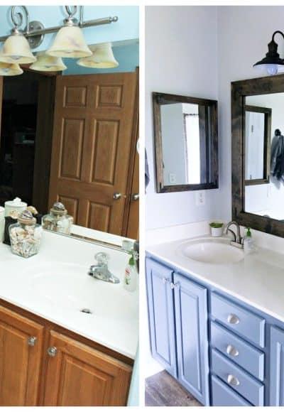 Farmhouse Style DIY Vanity Mirrors Tutorial
