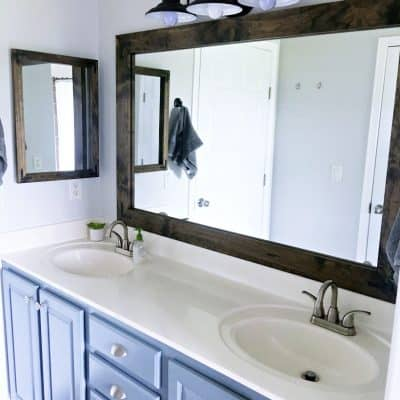 Farmhouse Style Fixer Upper Bathroom On A Budget