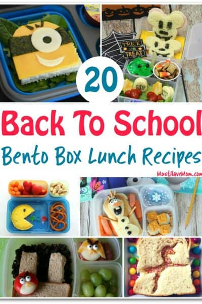 20 Bento Box lunch ideas for back to school! Grab these bento box recipes for fun lunch ideas for kids.