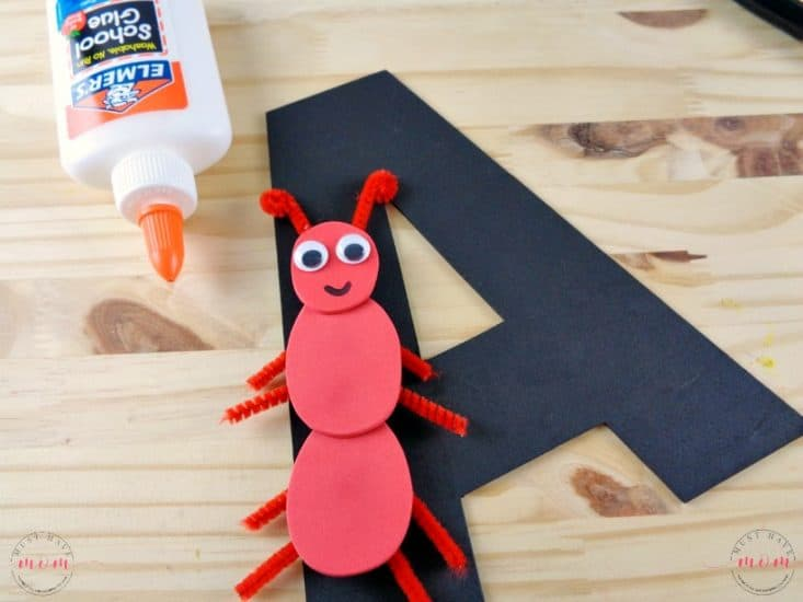 """Letter of the Week preschool activities! Letter recognition Letter A craft idea with free printable letter """"A"""""""