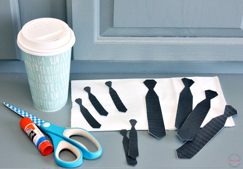 boss baby party idea espresso and donuts with free printable ties