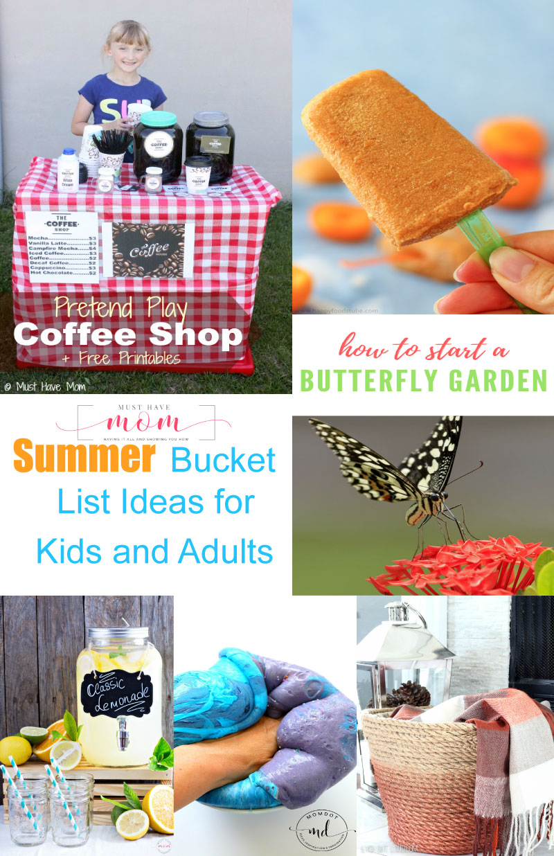 Summer bucket list ideas for 2017! Fun summer activity ideas for kids and adults to cross off their bucket list this summer!