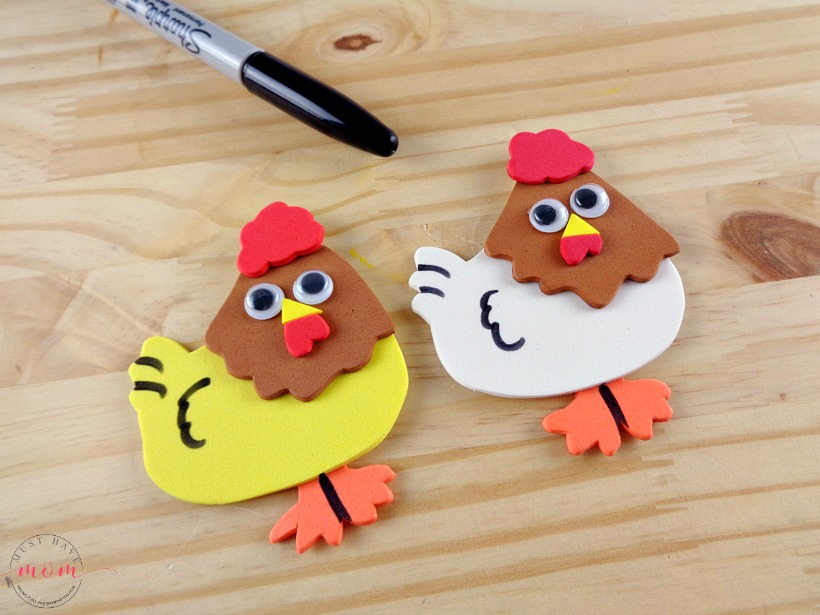 Letter of the week letter craft c is for chicken must for Rooster craft for kindergarten