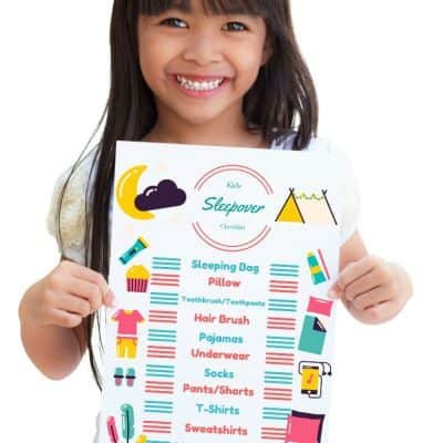 Kids Sleepover Checklist Free Printable!