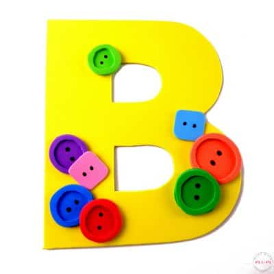 "Letter Of The Week Letter Craft! Letter ""B"" is for Buttons"