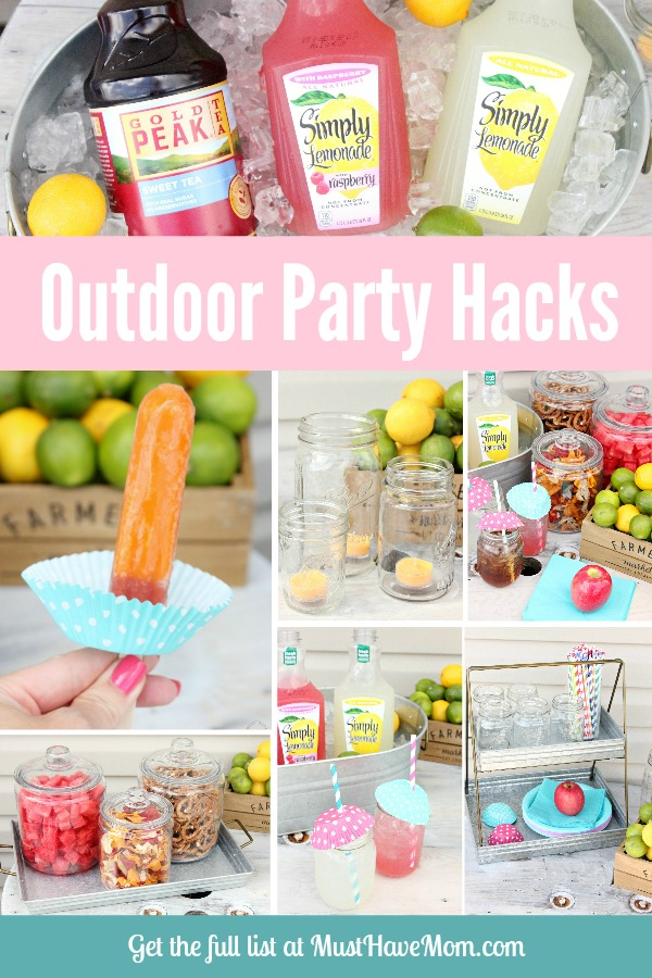 DIY party hacks for outdoor party. Keep flies off food, wasps out of drinks and more ideas!