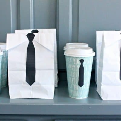 Boss Baby Party Idea! Espresso and Donuts with Free Printable Ties!