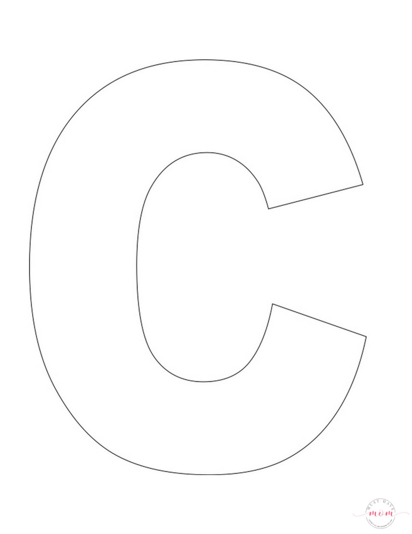 large letter c template - letter of the week letter craft c is for chicken must