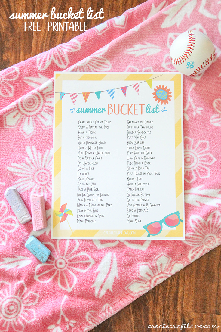 Summer bucket lists have been such a hot trend lately. So I put together a round up of my favorite free summer bucket list printables. Guaranteed to be fun!