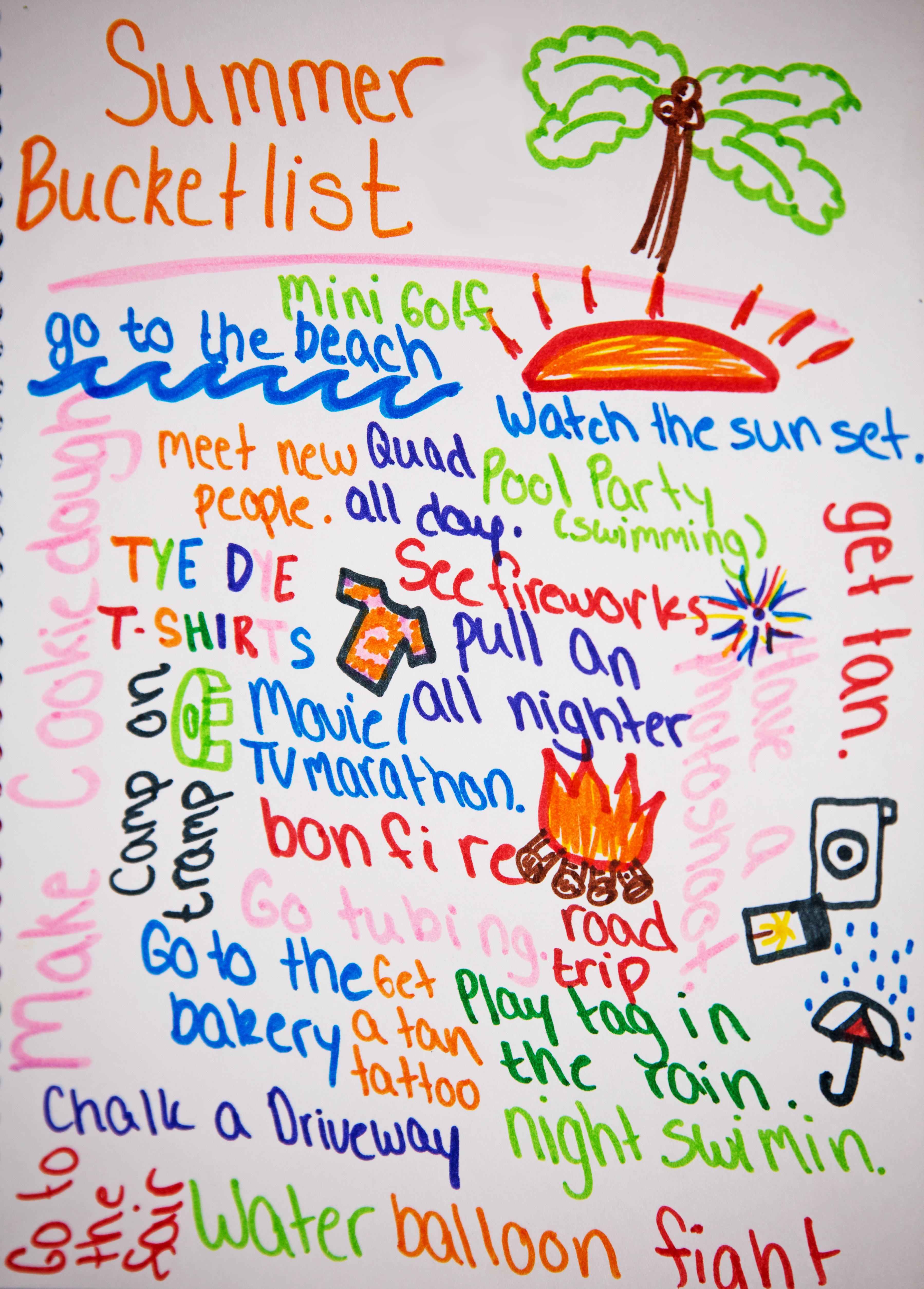 photograph relating to Summer Bucket List Printable known as 7 Free of charge Printable Summer months Bucket Lists - Need to Contain Mother