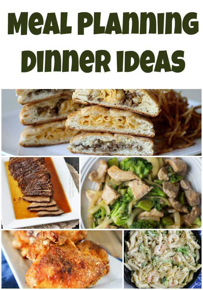 meal planning dinner ideas