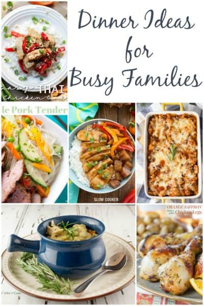 7 dinner ideas for busy families! Grab this list for a pre-made meal plan!