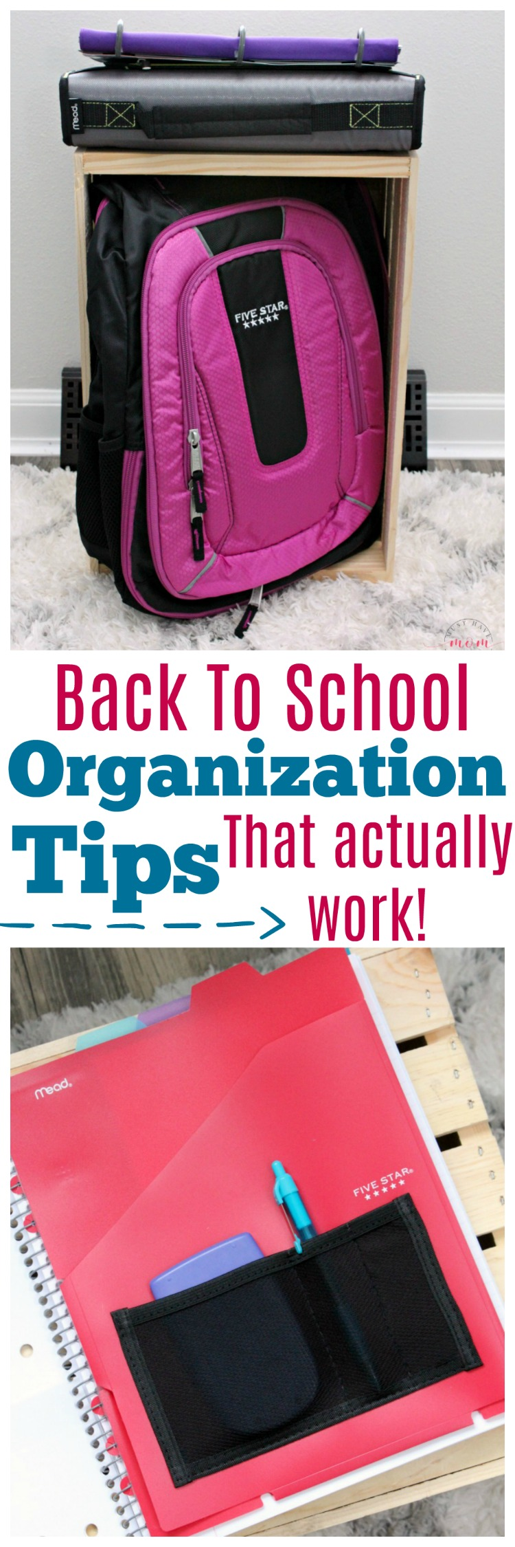 Back to school organization tips that actually work! Get organized for back to school with these genius ideas.