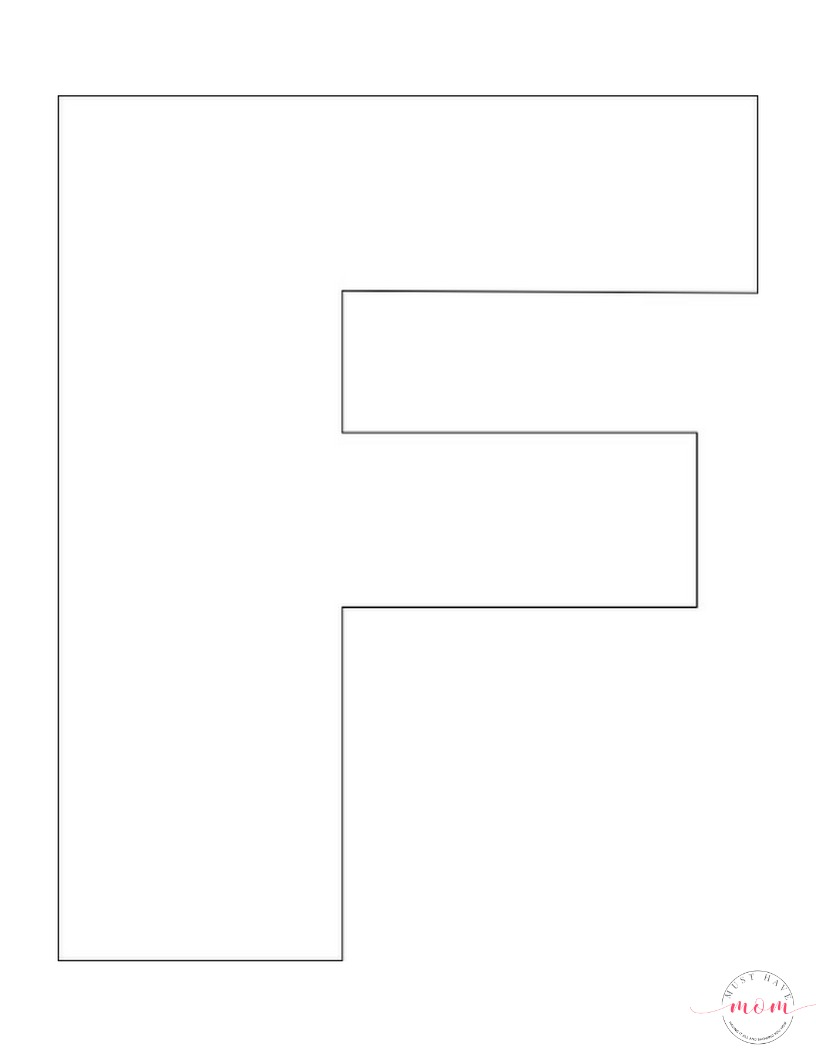 It is a graphic of Nerdy Letter F Printable