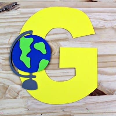 Letter of the Week Letter Craft! G is for Globe