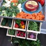 DIY Produce Stand & Farmer's Market Veggie Platter