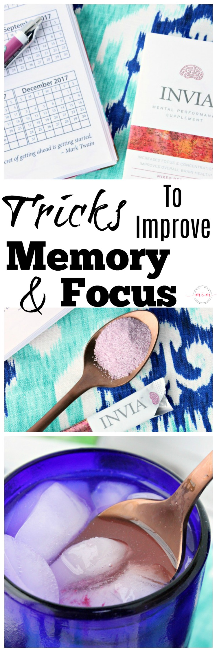 Tricks to improve memory and focus! Try these tips to increase your focus and get a memory boost.