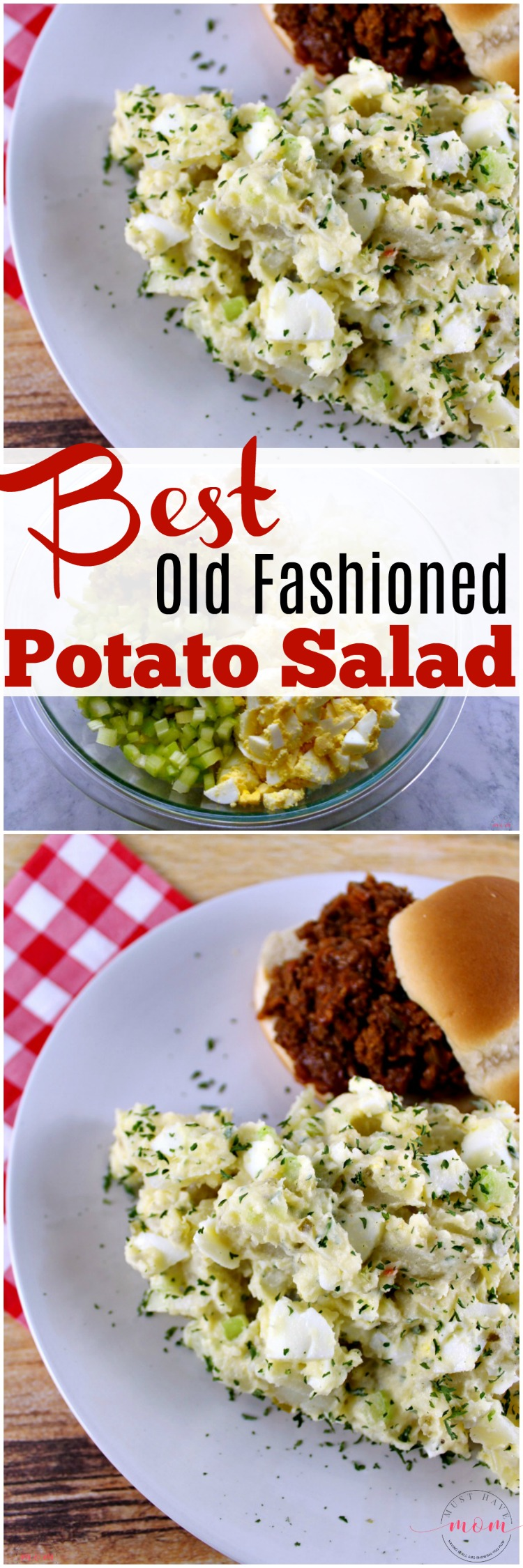 Best old fashioned potato salad recipe! As far as potato recipes go this is a favorite! I love old fashioned recipes like grandma made.