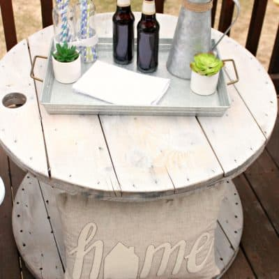 DIY Farmhouse Style Wood Spool Table