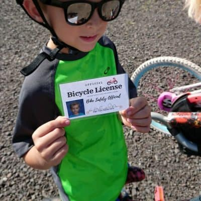 "Teaching Kids Bike Safety Through Play! + Free Printable ""Driver's License"" & GIVEAWAY!"