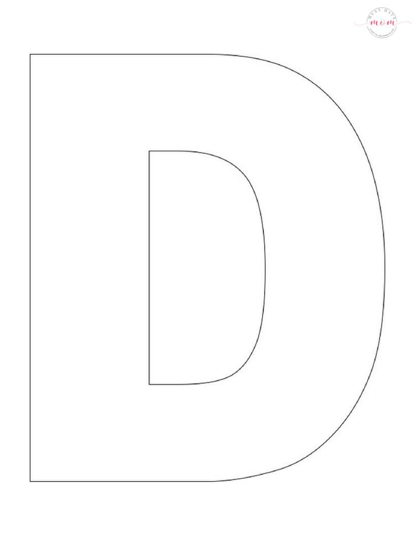 Clean image with printable letter d