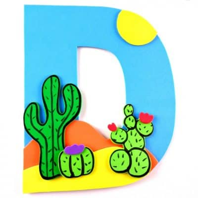 Letter of the Week Letter Craft! D is for Desert
