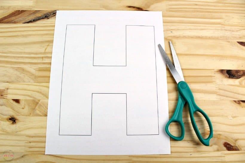 letter h free printable template must have mom. Black Bedroom Furniture Sets. Home Design Ideas