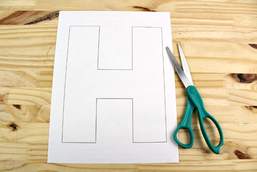 letter h template printable  letter H free printable template - Must Have Mom