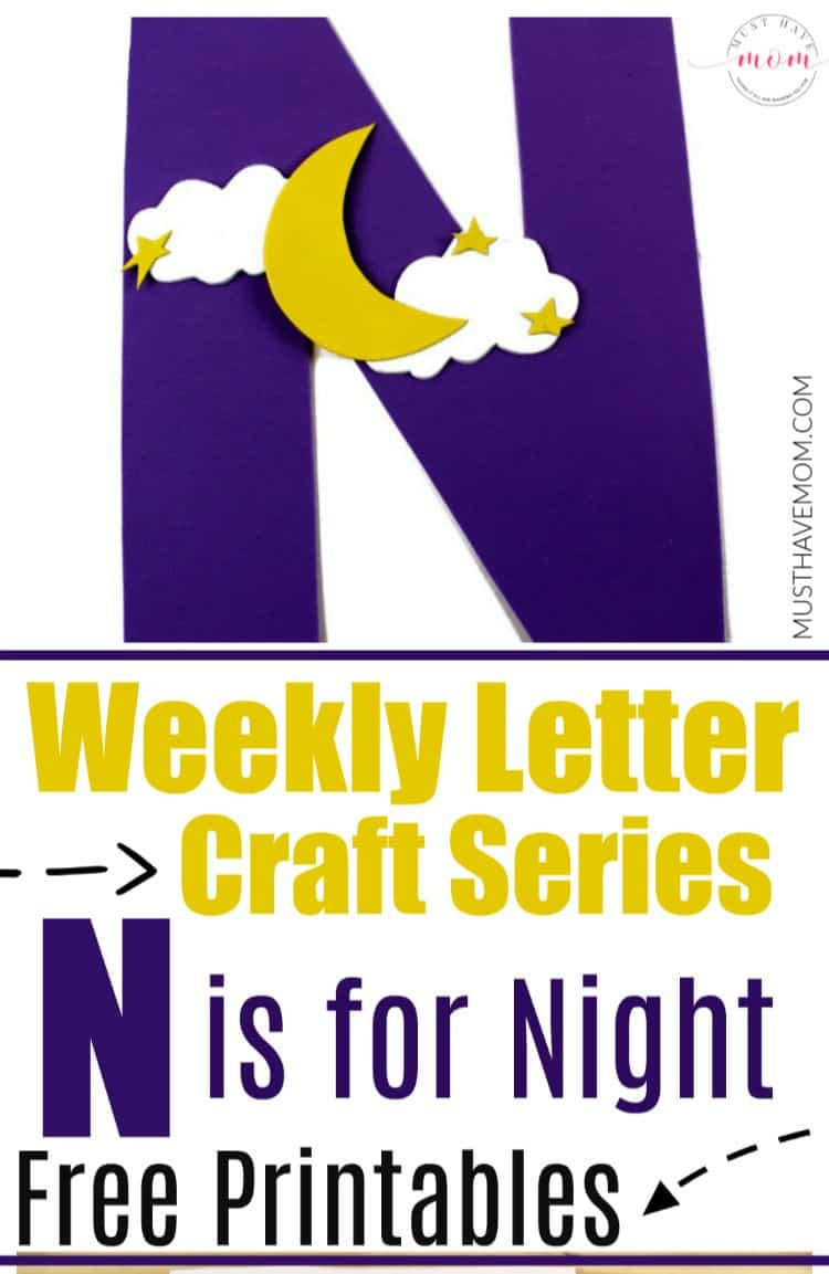 N is for Night letter craft