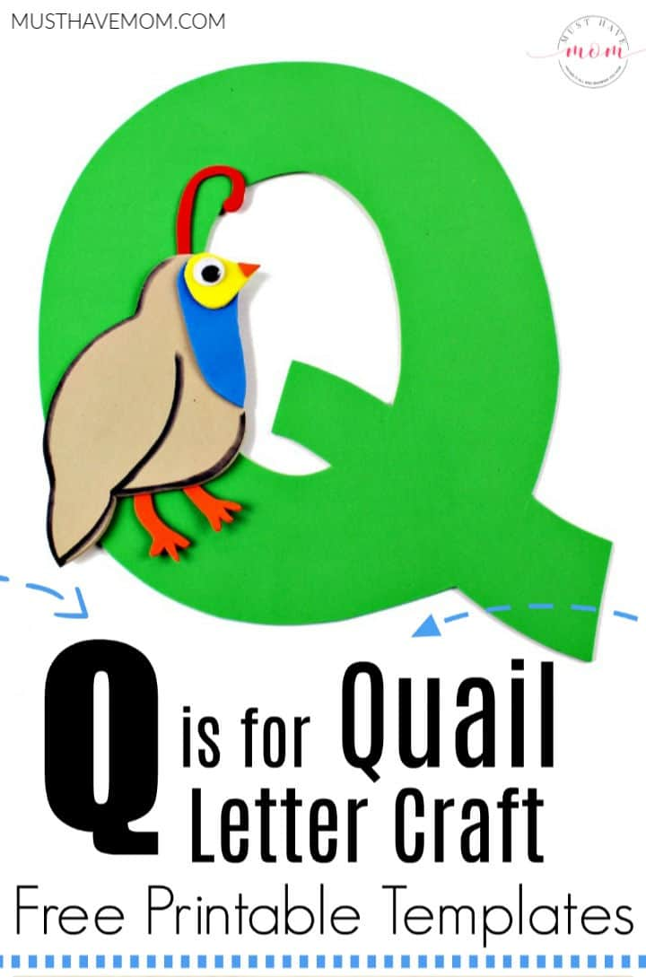 Q is for Quail letter craft