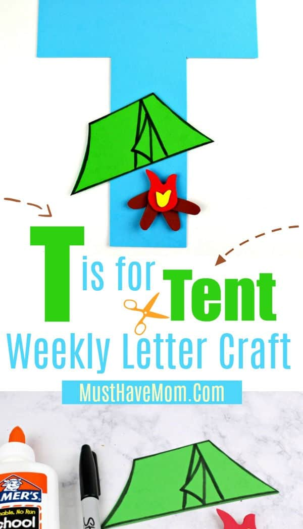 T is for Tent letter craft