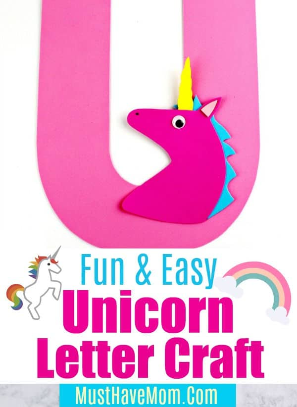 U is for Unicorn letter craft
