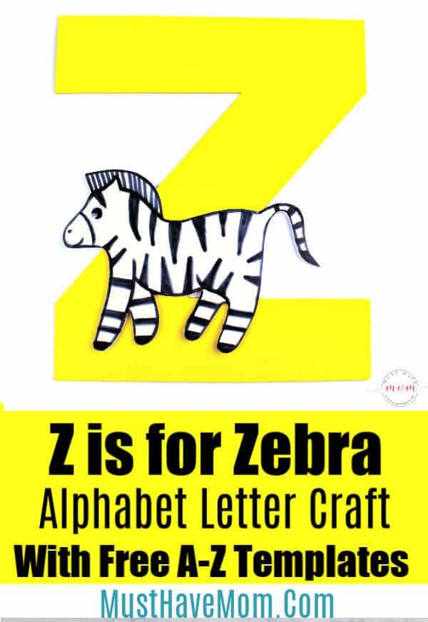 Z is for Zebra letter craft