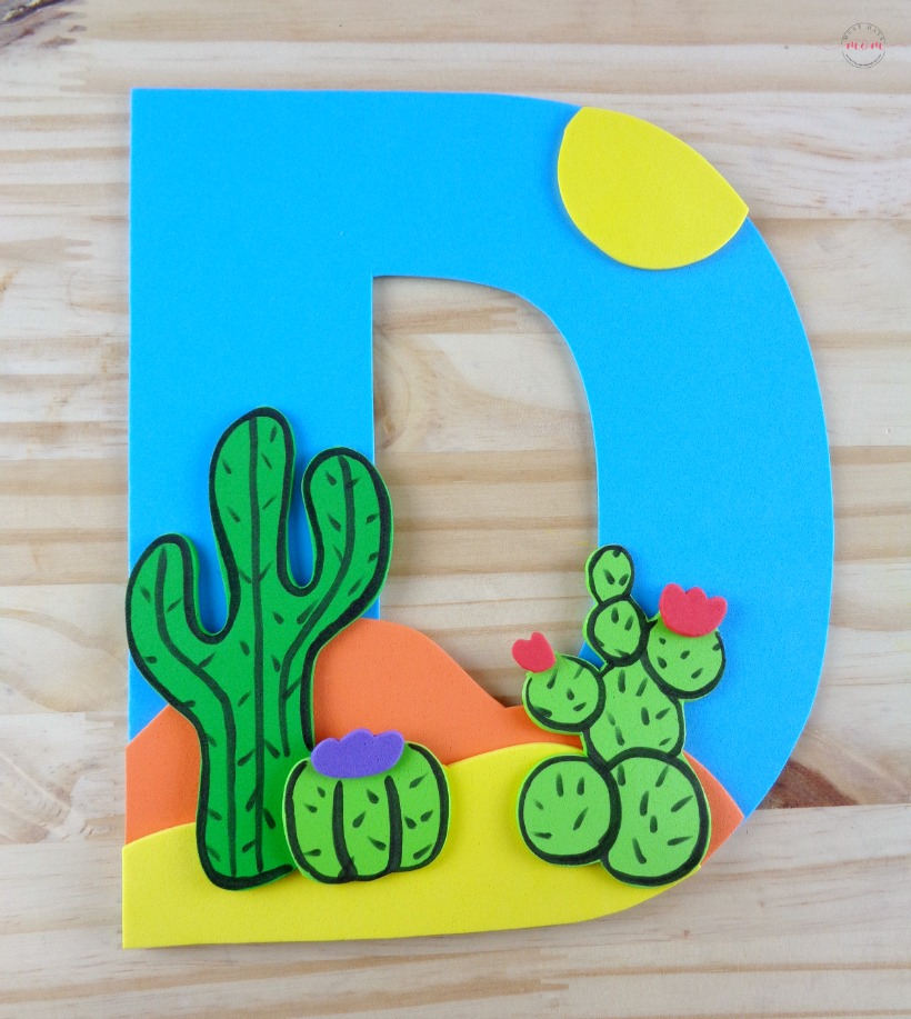 Letter of the Week Letter Craft D is for Desert Must Have Mom
