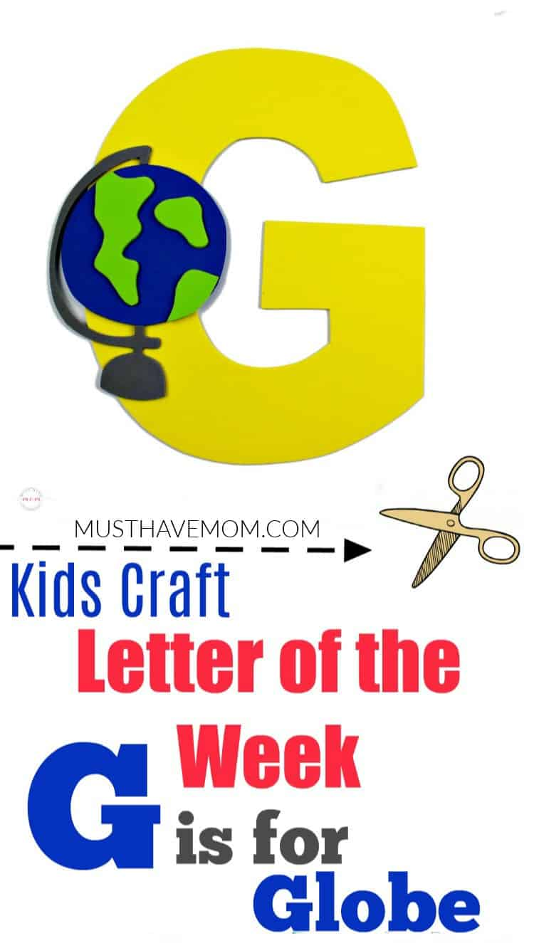 letter G is for Globe craft